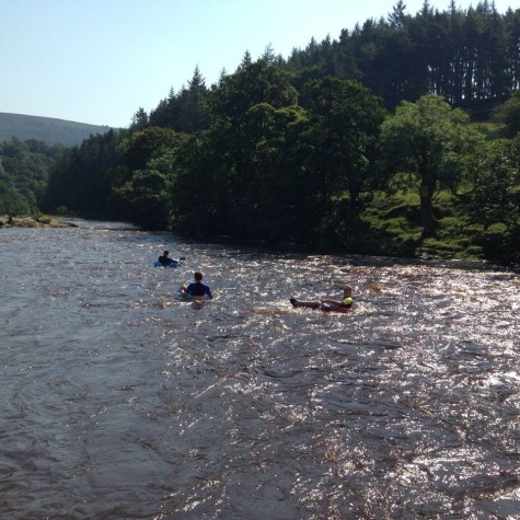 Tubing down the river Wharfe just 500 m from the cottage